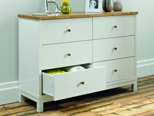 Oxford 6 Drawer Wide Chest of Drawers