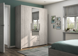 Bergen 3 Door Hinged Wardrobe