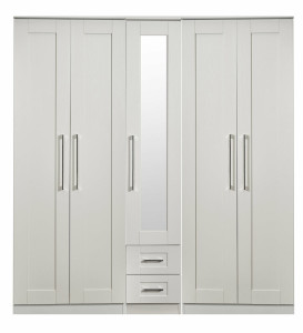 Santana 5 Door Hinged Wardrobe
