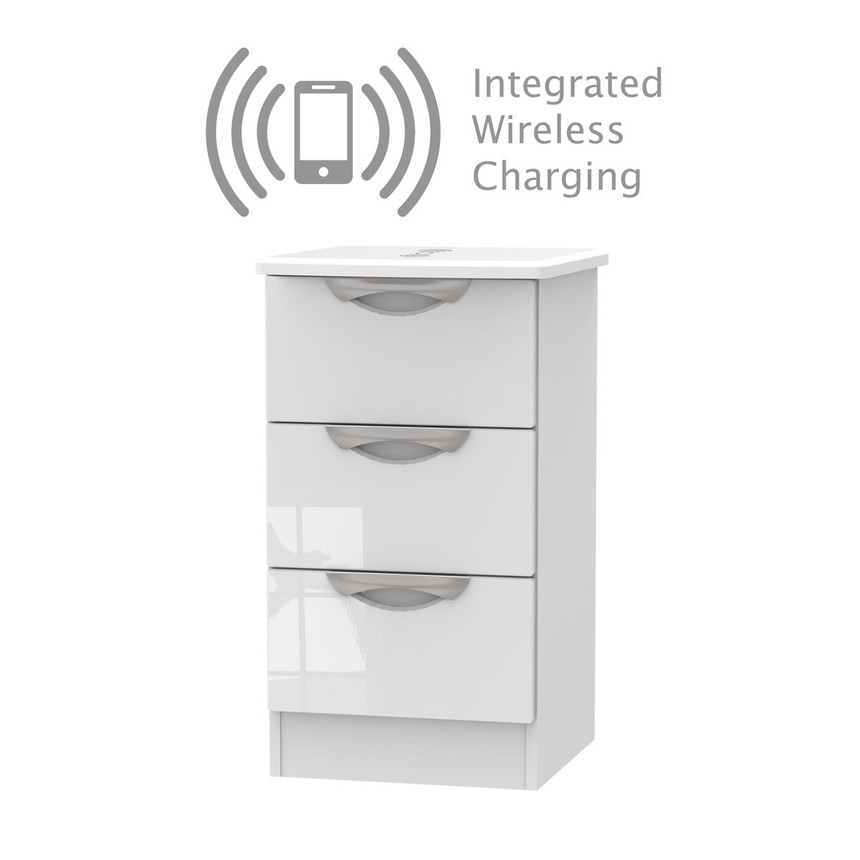 Merton Wireless Charging Bedside Table