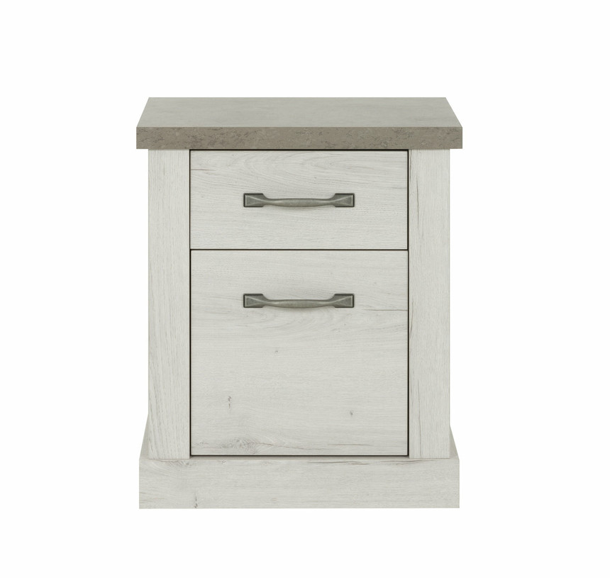 Chamonix 1 Door 1 Drawer Bedside Table