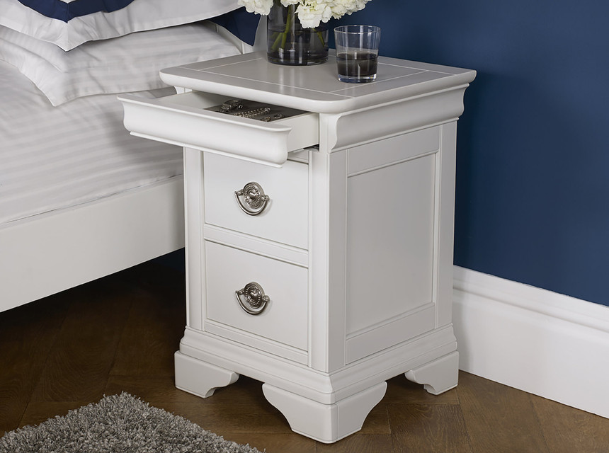 Chantilly 2 Drawer Bedside Table