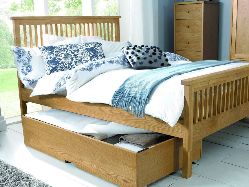 Oxford High Footend Wooden  Bed Frame