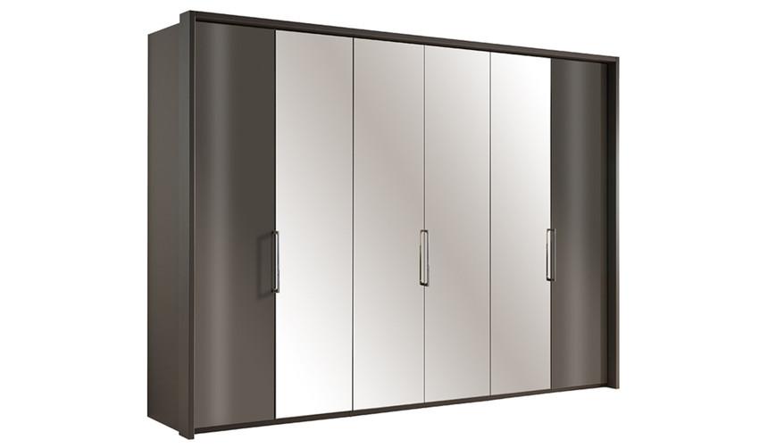 Sicily 6 Door Bi-Fold Wardrobe + External Lights