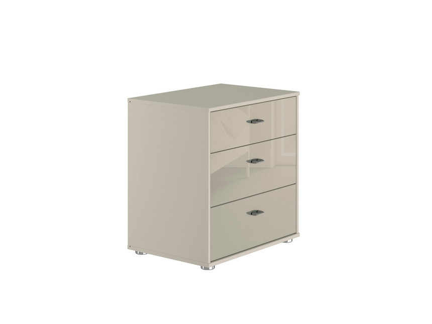 Palma 3 Drawer Wide Bedside Table
