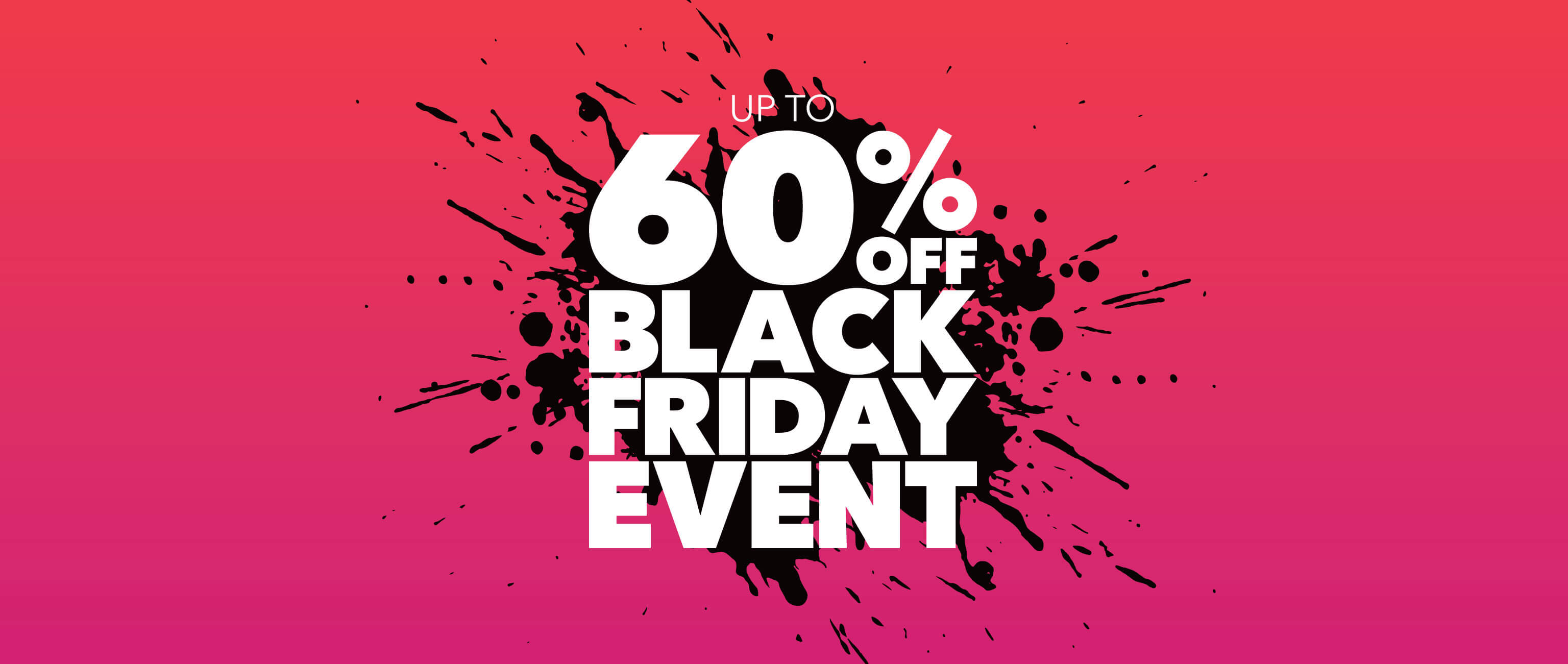 homepage - carousel - 60% off black friday event - flash sale