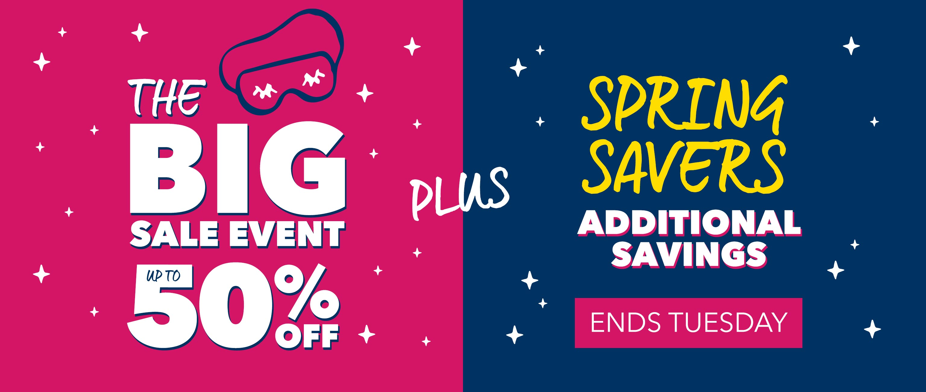 homepage - the big event spring savers - ends tuesday