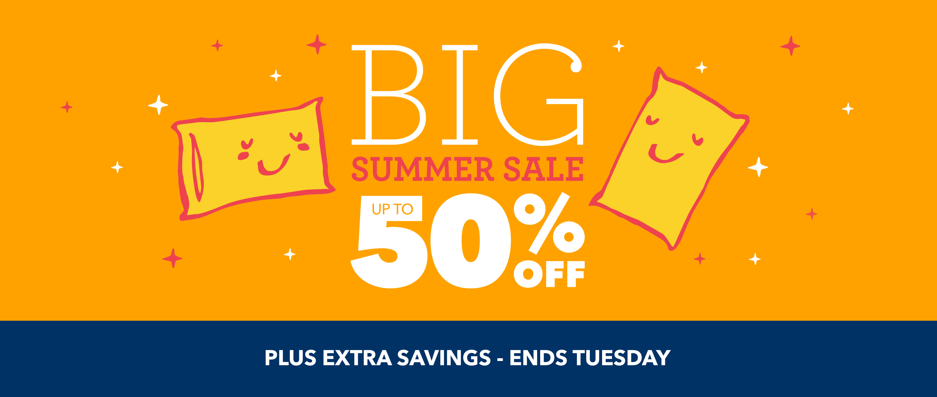 homepage - big summer sale - ends tuesday