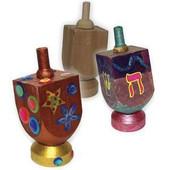Wooden Dreidel + Dreidel Base for Decoration Hanukkah arts and craft project