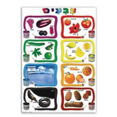 Colors in Hebrew Chart - Large Jewish Classroom Poster