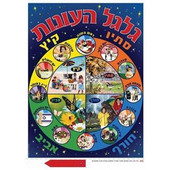 """Galgal Ha Onot"" Wheel of Seasons in Hebrew Jewish Classroom Poster"