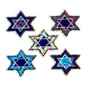 Stars of David Prismatic Sticke