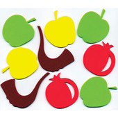 Rosh HaShanah Colorful Jewish Foam Shapes