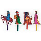 Purim Character Puppets + Wiggly Eyes & Craftsticks