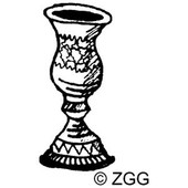 Small Kiddush Cup Rubber Stamp