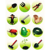 Gardening Tools Stickers