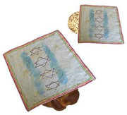 White Challah / Matzah Cover for decoration for Shabbat & Yom Tov Challah paint-your-own project