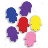Chamsa Jewish Colorful Foam Shapes