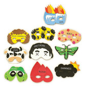 Passover 10 Plagues - 10 Masks Set