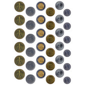 Israeli Play Money Coins
