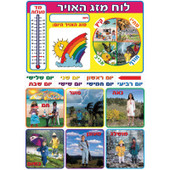 Weather Station Poster in Hebrew