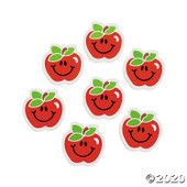 "1.5"" Apple erasers 24 in a pack"