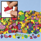 Fabulous Self Adhesive Foam Fruit Shapes