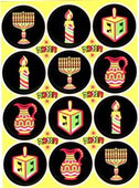 Neon Hanukkah (Chanukah) Stickers