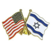 Israeli & US - 2 Flag Lapel Pin