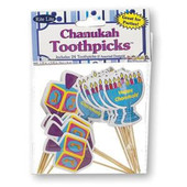 Chanukah Shaped Toothpicks, Assorted Designs