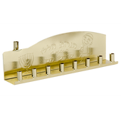 Gold Chanukah Tin Menorah