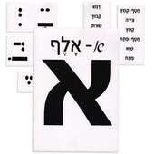 Laminated Hebrew Aleph Bet (Hebrew Alphabet) Flash Cards