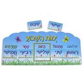 Days of the Week in Hebrew Classroom Poster Set
