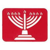 Laser-Cut Menorah Jewish Tracing Stencil Set