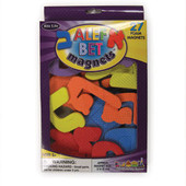 Hebrew Aleph Bet (Hebrew Alphabet) Colorful Magnetic Thick Foam Letters