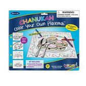 8 Hanukkah (Chanukah) Coloring Placemats With 4 Crayons