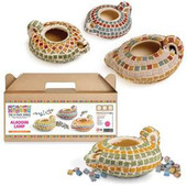 Cermaic Oil Lamp Kit with Mosaic Stones