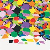 Mosaic Geometric Self-Adhesive Foam Shapes