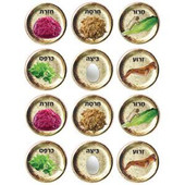 Large Passover Seder Plates Stickers