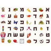 Alef Bet opening letters Stickers
