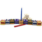 Ceramic Jumbo Cube Craft Hanukkah Menorah