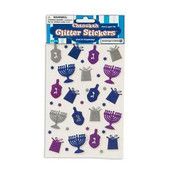 Hanukkah (Chanukah) Glitter Stickers