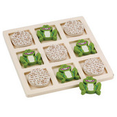 Passover Tic Tac Toad Wood Game