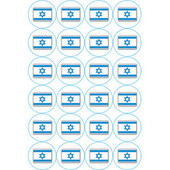 Israeli Flags Round Stickers