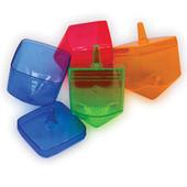 40 Fillable Translucent Israeli Dreidles in 4 Colors