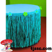 Hibiscus Blue Plastic 9'