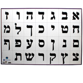Hebrew Aleph Bet Classroom Poster (Typed)