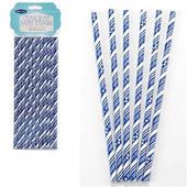Chanukah Paper Straws