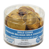 70 NUT-FREE - Large Milk Chocolate Gelt Coins in Tub