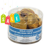 70 NUT-FREE -  Large Milk Chocolate Gelt Coins in Tub - As low as $9.99
